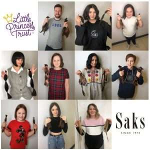 free haircuts for The Little Princess Trust at Saks Aberdeen